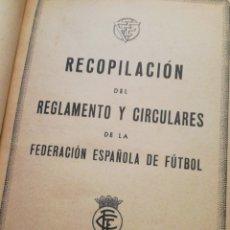 Coleccionismo deportivo: REGLAMENTO 1944 FEDERACIÓN ESPAÑOLA FÚTBOL. Lote 131418923