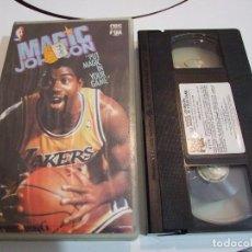 Coleccionismo deportivo: VHS - MAGIC JOHNSON PUT MAGIC IN YOUR GAME - NBA BALONCESTO - CBS FOX 1989. Lote 131575478