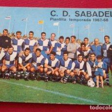 Coleccionismo deportivo: SABADELL. C.D. SABADELL. PLANTILLA TEMPORADA 1967 1968. Lote 131865666
