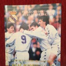 Coleccionismo deportivo: PROGRAMA OFICIAL REAL MADRID BARCELONA COPA DEL REY TEMPORADA 1996 1997 REDONDO GIOVANNI . Lote 132044110
