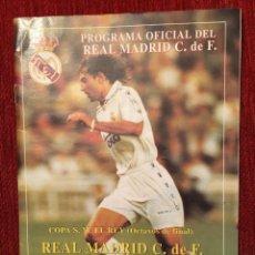 Coleccionismo deportivo: PROGRAMA OFICIAL REAL MADRID ESPAÑOL ESPANYOL COPA DEL REY TEMPORADA 1995 1996 SANCHIS BENITEZ. Lote 132044938