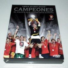 Coleccionismo deportivo: DVD EUROCOPA 2008 - SELECCION ESPAÑOLA FUTBOL - LA ROJA - CAMPEONES. Lote 132046618