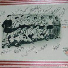 Coleccionismo deportivo: (M) ATH BILBAO - CAMPEON DE COPA 1955 - CAMPEON DE LIGA Y COPA 1955 - 1956, LEZAMA - ARIETA - GAINZA. Lote 132373074