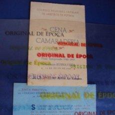 Coleccionismo deportivo: (F-180921)INVITACION COLEGIO ARBITROS A ENRIC PERIS DE VARGAS EX-JUGADOR F.C.BARCELONA. Lote 132468966