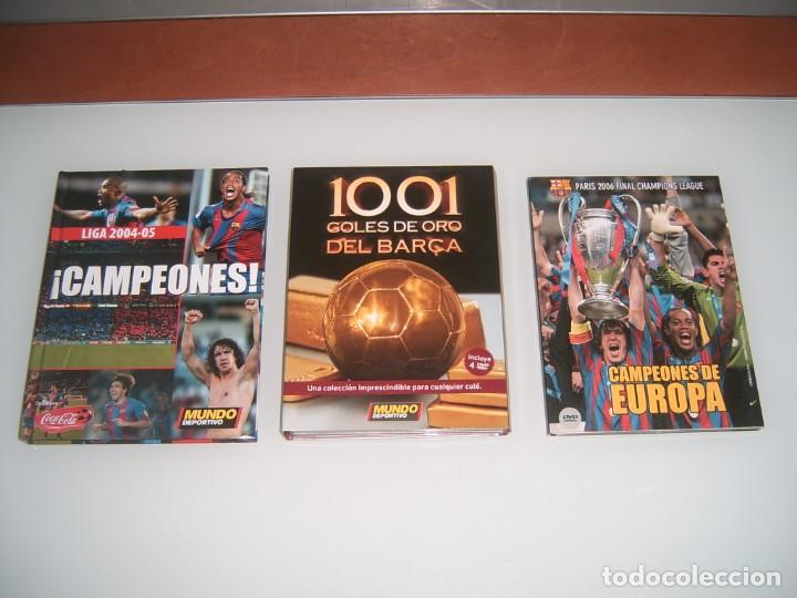 LOTE DE 3 DVDS DEL BARSA (Coleccionismo Deportivo - Documentos de Deportes - Otros)