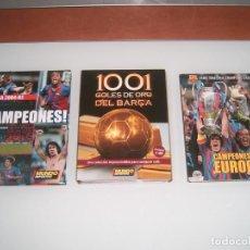 Coleccionismo deportivo: LOTE DE 3 DVDS DEL BARSA. Lote 132577186