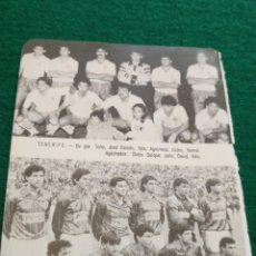 Coleccionismo deportivo: HOJA DEPORTIVA FUTBOL FOTOS JUGADORES ALINEACION PLANTILLA LIGA - TENERIFE - LERIDA UNION DEPORTIVA. Lote 133768242