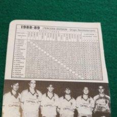 Coleccionismo deportivo: HOJA DEPORTIVA FUTBOL FOTOS JUGADORES ALINEACION PLANTILLA LIGA - AÑO 1988 ORIHUELA DEPORTIVA. Lote 133768734