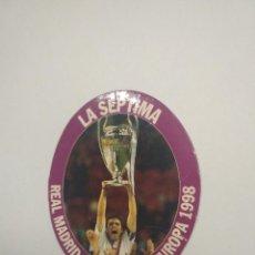 Coleccionismo deportivo: IMAN - REAL MADRID CAMPEON DE EUROPA 1998 - LA SÉPTIMA - 8 X 6,5 CM. Lote 134008302