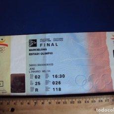 Coleccionismo deportivo: (F-180950M)ENTRADA OLIMPIADAS - BARCELONA 92 - FINAL - ATLETISMO. Lote 134433990