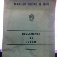 Coleccionismo deportivo: FEDERACION ESPAÑOLA DE RUGBY. Lote 134514399