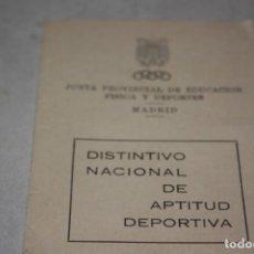 Coleccionismo deportivo: CARNÉ DE APTITUD DEPORTIVA AÑOS 70.. Lote 134883514