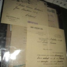 Coleccionismo deportivo: ANTIGUOS DOCUMENTOS JUGADOR FIDEL GUERREA ALARCON FUTBOL UNION DEPOR GRAO VALENCIA JUGAR PARTIDO. Lote 134902622