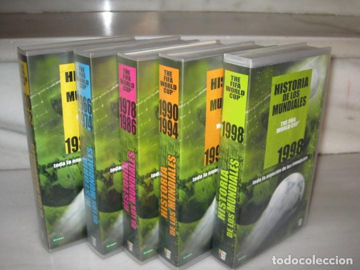 HISTORIA DE LOS MUNDIALES 1930-1998 EN CINTAS VHS (Coleccionismo Deportivo - Documentos de Deportes - Otros)