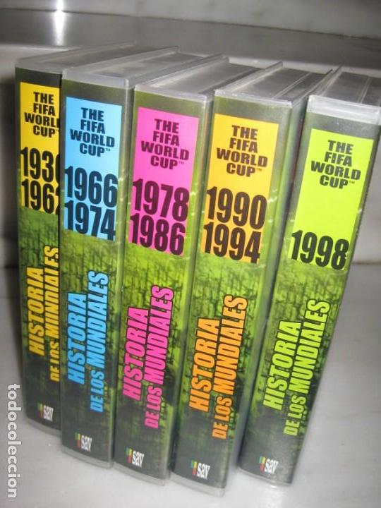 Coleccionismo deportivo: HISTORIA DE LOS MUNDIALES 1930-1998 EN CINTAS VHS - Foto 2 - 135234594