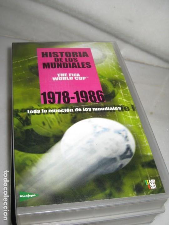 Coleccionismo deportivo: HISTORIA DE LOS MUNDIALES 1930-1998 EN CINTAS VHS - Foto 6 - 135234594
