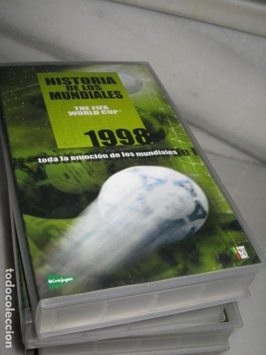 Coleccionismo deportivo: HISTORIA DE LOS MUNDIALES 1930-1998 EN CINTAS VHS - Foto 8 - 135234594