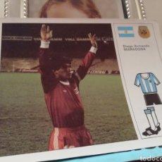 Coleccionismo deportivo: MUNDIAL1982... .FICHA DE DIEGO MARADONA. Lote 135958007