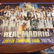 Coleccionismo deportivo: POSTER 45X30 AT MADRID CAMPEÓN EUROPA LEAGUE 17-18 / REAL MADRID CAMPEON CHAMPIONS 17-18. Lote 136452498