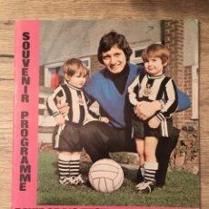 Coleccionismo deportivo: PROGRAMA OFICIAL HOMENAJE DAVID CRAIG 1975 NEWCASTLE UNITED SUNDERLAND. Lote 137618422