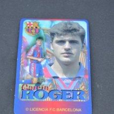Coleccionismo deportivo: CALENDARIO DE BOLSILLO DE 1996.ROGER (FC BARCELONA). Lote 137754626