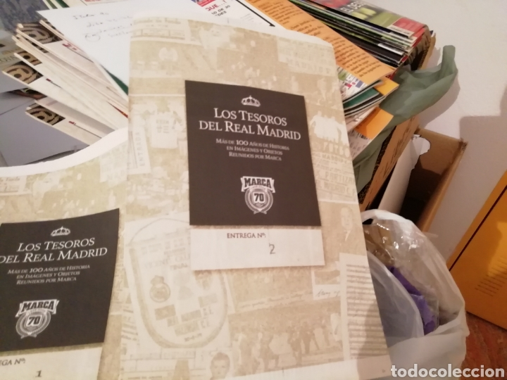 Coleccionismo deportivo: Real Madrid colección- TESOROS . 100 láminas sueltas DIARIAS. COLECCION Marca. HISTORIA BLANCA. - Foto 2 - 138076514