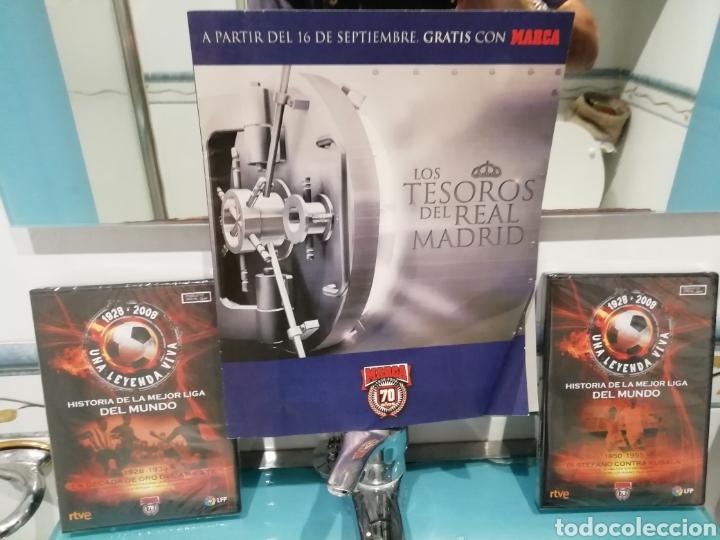 Coleccionismo deportivo: Real Madrid colección- TESOROS . 100 láminas sueltas DIARIAS. COLECCION Marca. HISTORIA BLANCA. - Foto 3 - 138076514