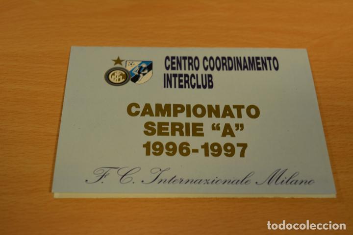Inter Milan Calendario.Calendario De La Serie A Italuana De Futbol Temporada 1996 97 Inter Milan