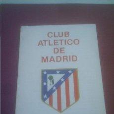 Coleccionismo deportivo: ATLETICO DE MADRID PROGRAMA OFICIAL PARA TEMPORADA 1991-92 . Lote 139470010
