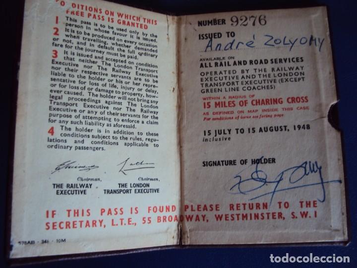 Coleccionismo deportivo: (F-181172)CARNET JUEGOS OLIMPICOS LONDRES 1948 DE ANDRES ZOLYOMY ENTRENADOR WATERPOLO ESPAÑA - Foto 3 - 140976522