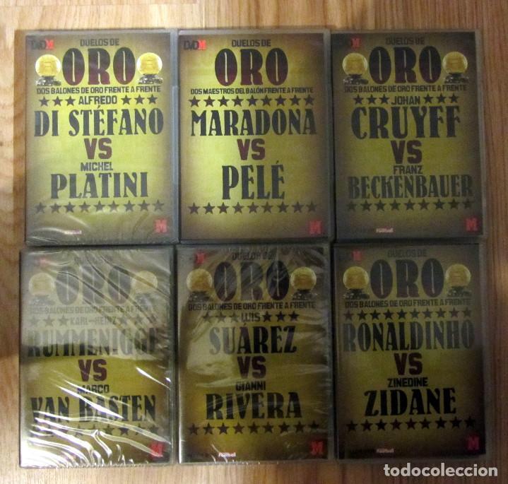 LOTE DVD DUELOS ORO MARCA CRUYFF DI STEFANO PLATINI BECKENBAUER MARADONA PELE ZIDANE (Coleccionismo Deportivo - Documentos de Deportes - Otros)