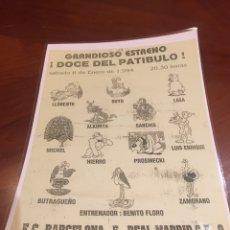 Coleccionismo deportivo: CARICATURA ALINEACIÓN REAL MADRID. Lote 141691022