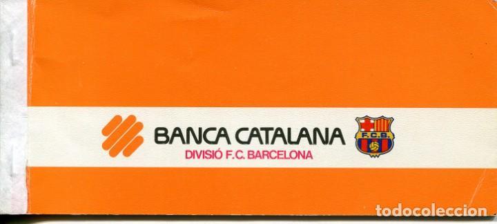 DIVISIÓ F.C. BARCELONA-BANCA CATALANA-TALONARIO CON 6 CHEQUES- AÑO 1985- RARO (Coleccionismo Deportivo - Documentos de Deportes - Otros)
