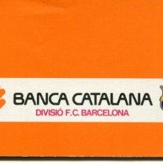 Coleccionismo deportivo: DIVISIÓ F.C. BARCELONA-BANCA CATALANA-TALONARIO CON 6 CHEQUES- AÑO 1985- RARO. Lote 142408282