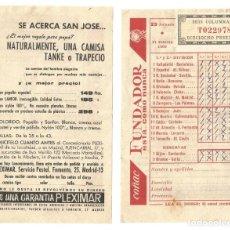 Coleccionismo deportivo: RESGUARDO QUINIELA 23 JORNADA FEBRERO 1960 SEIS COLUMNAS PUBLICIDAD COÑAC FUNDADOR. Lote 143594630