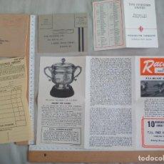 Coleccionismo deportivo: ANTIGUO PROGRAMA DE CARRERAS DE CABALLOS. 1956-1957. LONDON, NATIONAL HUNT SEASON RACIN CALENDAR. Lote 143596102