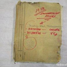 Coleccionismo deportivo: HOCKEY CLUB VILLAGARCIA DE AROSA - CARPETA EPISTOLAR 1934, ARTABRO CORUÑA, ATLANTIDA VIGO. 1S. Lote 143744658