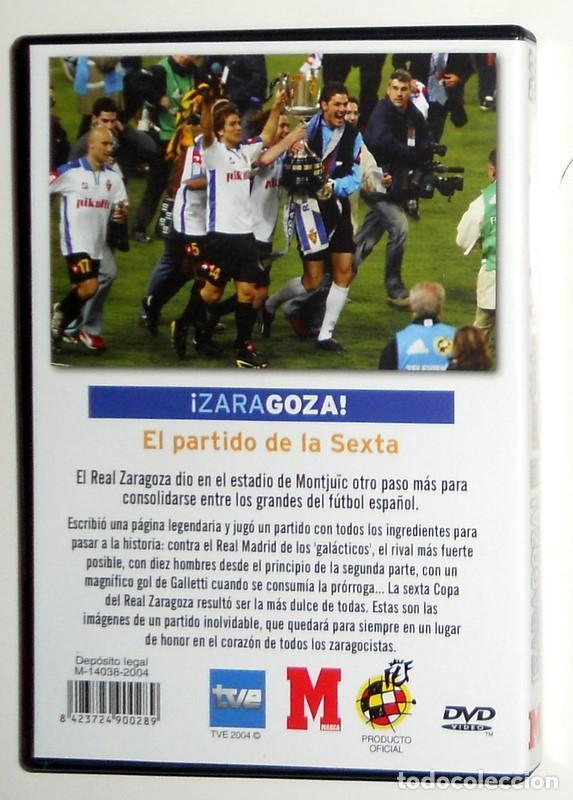Coleccionismo deportivo: DVD FINAL COPA del REY FÚTBOL 2004 - REAL ZARAGOZA CAMPEÓN - REAL ZARAGOZA REAL MADRID MONTJUIC - Foto 2 - 155996317