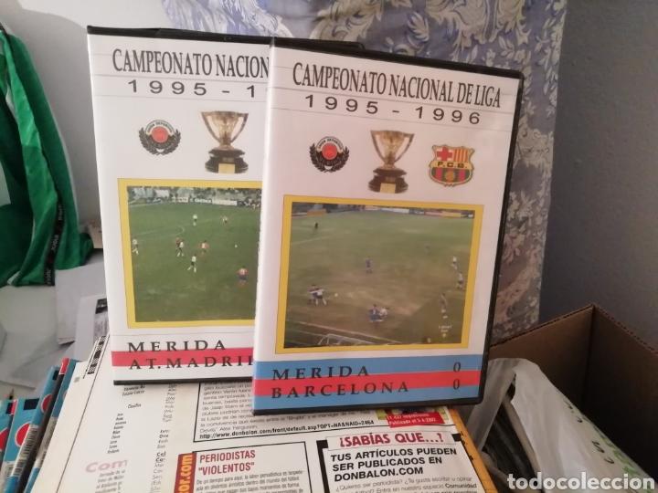 Coleccionismo deportivo: Merida, Extremadura. Videos fútbol históricos. Lote de 7 DVDS. - Foto 3 - 144107553
