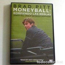 Coleccionismo deportivo: MONEYBALL ROMPIENDO LAS REGLAS DVD PELÍCULA H REAL BRAD PITT SEYMOUR BÉISBOL DEPORTE CAPITALISMO EXT. Lote 144129290