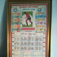 Coleccionismo deportivo: CURIOSO CALENDARIO MUNDIAL 82 CON ENTRADAS ENMARCADO. Lote 144223996