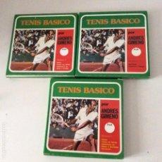 Coleccionismo deportivo: TENIS BÁSICO ANDRÉS GIMENO 3 PELÍCULAS SONORAS SÚPER 8 COMPLETO. Lote 144735074