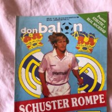 Coleccionismo deportivo: DON BALON 670 SCHUSTER REAL MADRID-LANDABURU-LOPETEGUI-CLEMENTE-SANTILLANA. Lote 145251398