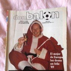 Coleccionismo deportivo: DON BALÓN N°689, DEL 27 DE DICIEMBRE DE 1988 AL 2 DE ENERO DE 1989 - PAPÁ NOEL RONALD KOEMAN . Lote 145251566