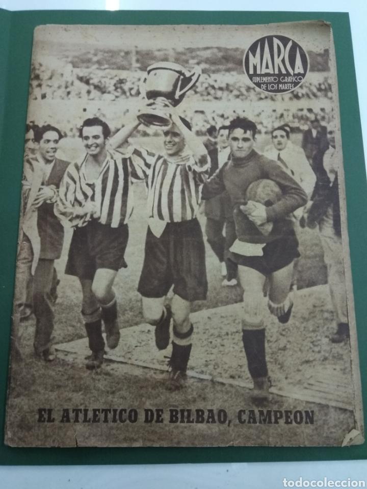 ATLETICO DE BILBAO CAMPEON COPA GENERALISIMO 1944 MARCA COMPLETO REPORTAJE FOTOGRÁFICO ATHLETIC (Coleccionismo Deportivo - Documentos de Deportes - Otros)