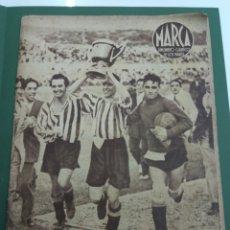 Coleccionismo deportivo: ATLETICO DE BILBAO CAMPEON COPA GENERALISIMO 1944 MARCA COMPLETO REPORTAJE FOTOGRÁFICO ATHLETIC. Lote 145363077