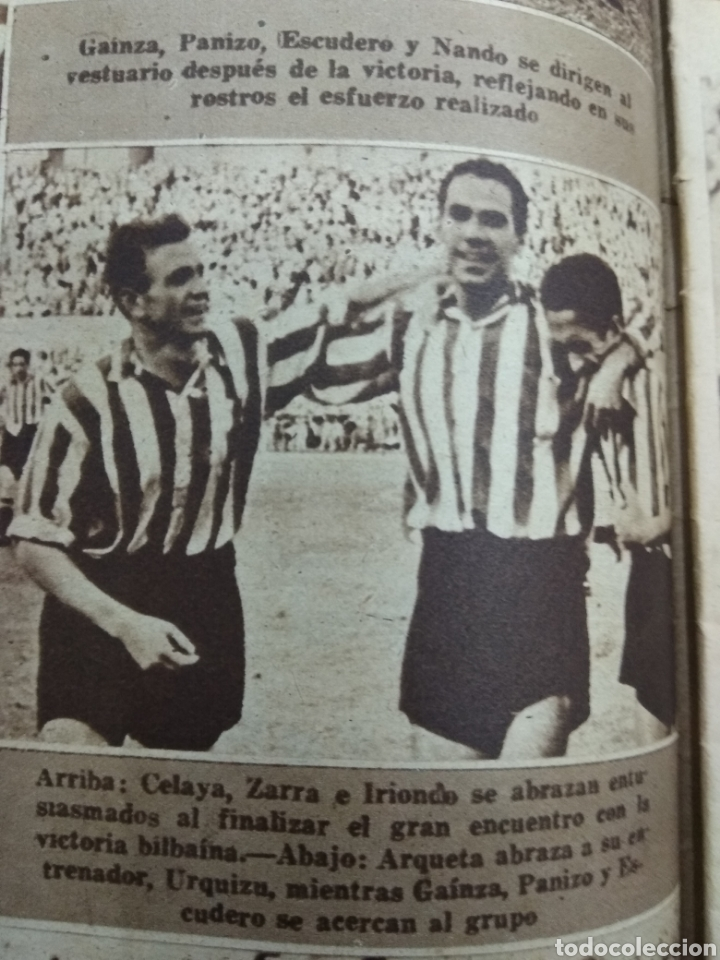 Coleccionismo deportivo: ATLETICO DE BILBAO CAMPEON Copa Generalisimo 1944 Marca COMPLETO REPORTAJE FOTOGRÁFICO Athletic - Foto 7 - 145363077