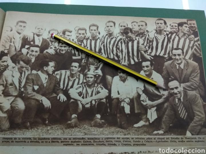 Coleccionismo deportivo: ATLETICO DE BILBAO CAMPEON Copa Generalisimo 1944 Marca COMPLETO REPORTAJE FOTOGRÁFICO Athletic - Foto 8 - 145363077
