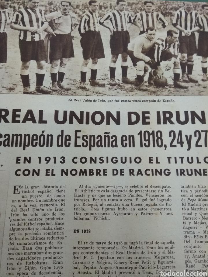 Coleccionismo deportivo: ATLETICO DE BILBAO CAMPEON Copa Generalisimo 1944 Marca COMPLETO REPORTAJE FOTOGRÁFICO Athletic - Foto 12 - 145363077
