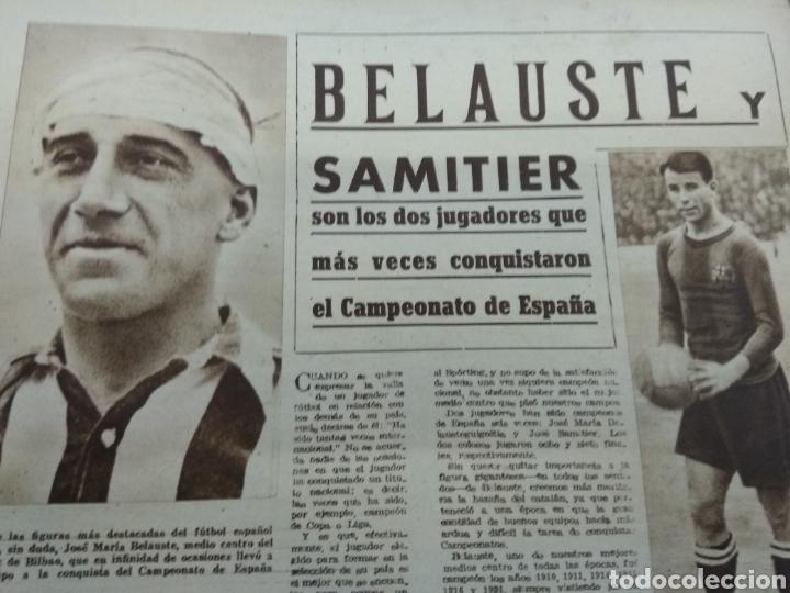 Coleccionismo deportivo: ATLETICO DE BILBAO CAMPEON Copa Generalisimo 1944 Marca COMPLETO REPORTAJE FOTOGRÁFICO Athletic - Foto 13 - 145363077